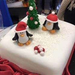 "Juliette Cake Design noel 2016""gâteau de noël"" pingouin"