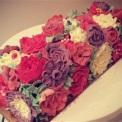 """Juliette Cake Design noel 2016""""buche crème au beurre"""" fleurs"""
