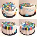 "Juliette cake design ""artiste"" avec impression du dessin de ma cliente"