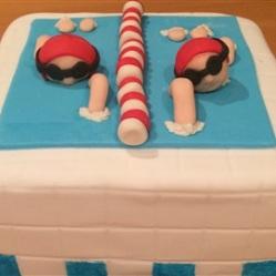 "Juliette cake design ""natation"""