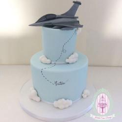Juliette cake design avion de chasse
