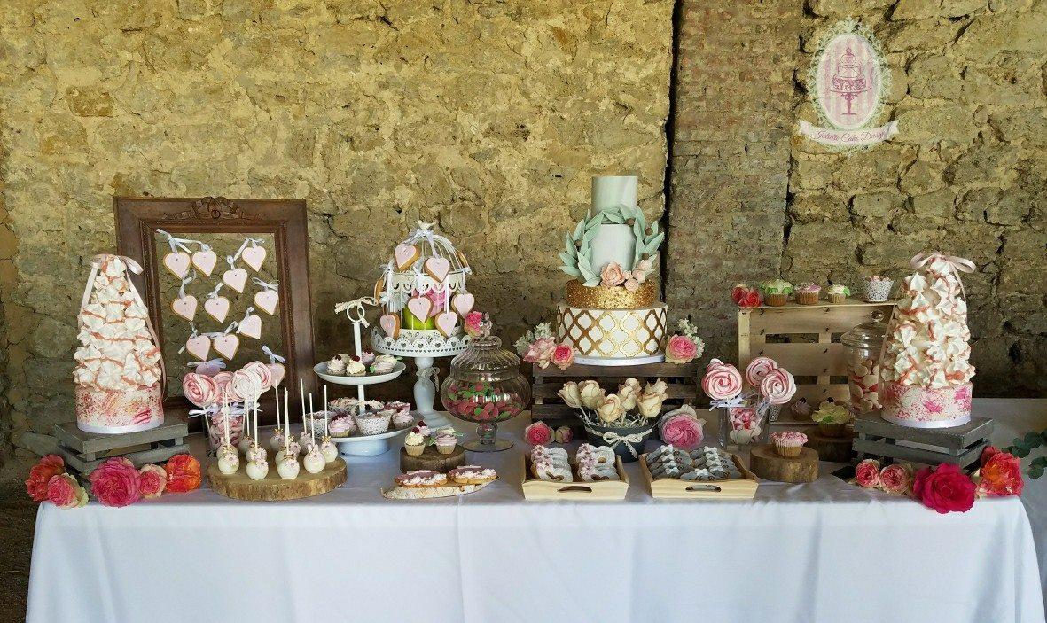 Juliette Cake Design Candy Bar Champetre A Gauche Cake Pop Decores