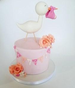 baby shower girl juliette cake design