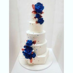 bleu et bronze wedding cake juliette cake design